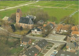 NL.- Garnwerd. Gemeente Winsum. Groningen. Zaalkerk. Luchtfoto. 2 Scans. - Pays-Bas