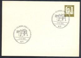 Germany Deutschland 1969 Card: Space Weltraum; Der Flug Zum Mond; Lunar Modul; Moon Walk - FDC & Gedenkmarken
