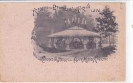 CARD PUBBLICITARIA CAFFE'MALTO KNEIPP CHIOSCO  RICORDO EXPO TORINO 1898    -FP-N-2-0882- 22730 - Pubblicitari