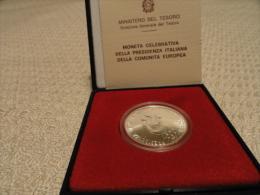 1990 Moneta Celebrativa Presidenza Italiana Comunità Europea L.500 ARGENTO - Monete