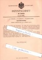 Original Patent - A. Jünger In Sulzbach B. Saarbrücken , 1901 , Lagerschmiervorrichtung !!! - Historische Dokumente