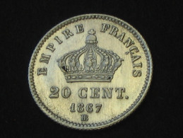 20 Centimes Napoléon III 1867 BB ( Strasbourg ) **** EN ACHAT IMMEDIAT  *** - France