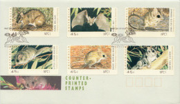 Australia Machine, Atm Sets On 3 FDCs With Different Imprints: NPC1, RX1 And ACT 93 - Rodents