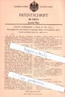 Original Patent - G. Schneider In Zella St. Blasii , 1901 , Schrotgewehr Mit Vestellbarem Visir , Zella-Mehlis!!! - Historische Dokumente