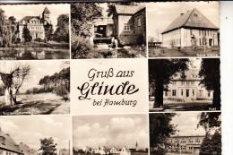 2056 GLINDE, Mehrbildkarte, Rück. Kl. Klebereste - Glinde