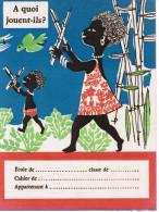 PROTEGE-CAHIER A QUOI JOUENT-ILS ? ENFANTS SENEGAL L´HUILE DE COPRAH L´HUILE DE PALME POUR FAIRE ASTRA MARGARINE - Protège-cahiers