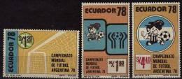 EQUATEUR  N° 977/79  * *     Cup 1978   Football  Soccer Fussball - Coupe Du Monde