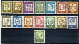 """1961 Berlin Complete Set Of 15 Stamps VF Used """" Famous People"""" Michel 199-213 - [5] Berlin"""