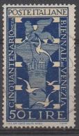 1949 (597) Biennale Di Venezia Lire 50 Usato - Leggi Il Messaggio Del Venditore - 1946-60: Afgestempeld