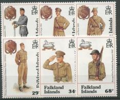 Falkland 1992 Verteidigung Uniformen 569/74 Postfrisch - Falkland Islands