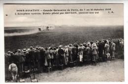 91 - Juvisy - Port Aviation - Grande Quinzaine De Paris 1909 - L'Aéroplane Voisin Piloté Par Gordon - Editeur: Malcuit - Juvisy-sur-Orge