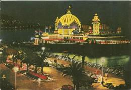 06. CPM. Alpes Maritimes, Nice. La Promenade Des Anglais, La Nuit, Le Casino De La Jetée - Niza