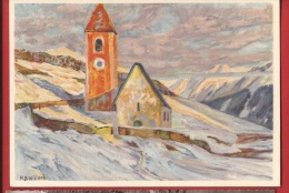 NV-21 Kirche Von Lavin Die Chiesuola Di Lavin Von B. Wieland. Pro Juventute, Grand Format. Circulé Sous Enveloppe - GR Grisons
