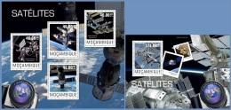 m14428ab Mozambique 2014 Space Satellites 2 s/s