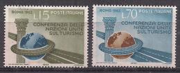 ITALIA 1963  CONFERENZA NAZIONI UNITE SUL TURISMO  SASS. 965-966 MNH XF - 6. 1946-.. República