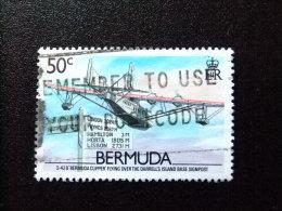 "BERMUDA - BERMUDES - 1987 - "" S 42 B BERMUDA CLIPPER "" En Vol - Yvert Nº 514 º FU - Bermudas"