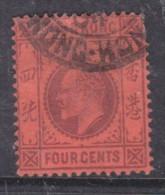 Hong Kong: Edward VII 4 Cents, Wmk CA, Used - Hong Kong (...-1997)