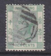 Hong Kong: Queen Victoria 1884, 10 Cents Green, Used - Hong Kong (...-1997)