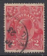 Australia George V Heads: 1922, 2d Rose-scarlet, Perf 14, Used - Used Stamps