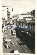 662 CHILE VALPARAISO STREET CALLE CONDELL AND VIEW TRAMWAY TRANVIA POSTAL POSTCARD - Chile