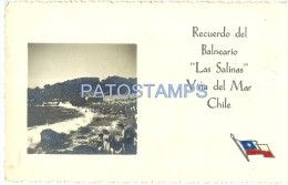 674 CHILE VIÑA DEL MAR VALPARAISO BALNEARIO LAS SALINAS YEAR 1942 POSTAL POSTCARD - Chile
