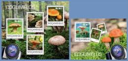 m14405ab Mozambique 2014 Mushrooms 2 s/s