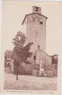 Cpa,gard,1940,en Guerre ,molières-cavaillac,le Monument Et L´église Par Sujol,rare - France