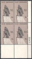 Plate Block -1968 USA Leif Erikson Stamp Sc#1359 Sculpture Sword Famous - Fencing