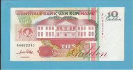SURINAM - 10 GULDEN - 01.12.1996 - Pick 137.b - UNC. - Wmk. Toucan - 2 Scans - Suriname