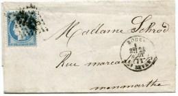 SEINE MARITIME De ROUEN SAINT SEVER LAC Partielle Du 24/08/1871 Avec N°37 !! - 1849-1876: Classic Period