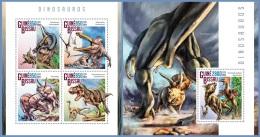 gb14806ab Guinea Bissau 2014 Dinosaurs 2 s/s