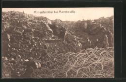 CPA Marcheville, Dt. Des Soldats In Einem Minentrichter - Non Classificati