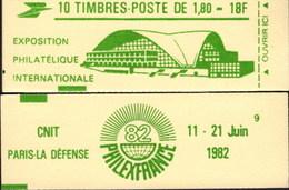 """CARNET 2220-C 3 Liberté De Delacroix """"PHILEXFRANCE 82"""" Vert Prairie, Fermé, Parfait état Bas Prix RARE - Usage Courant"""