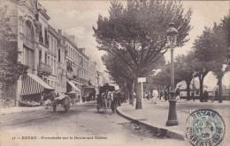 D CPA 17 ROYAN PROMENADE SUR LE BOULEVARD BOTTON BEAU VISUEL ANIMEE ATTELAGE 1905 A VOIR - Royan