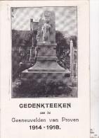 PROVEN : gedenkteeken aan de Gesneuvelden 1914-18