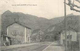 """/ CPA FRANCE 74 """"Gare De Saint Laurent Et Pic De Jalouvre"""" - Other Municipalities"""