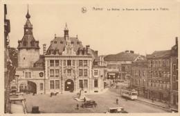 BELGIQUE - NAMUR - LE BEFFROI LA BOURSE DU COMMERCE ET LE THEATRE - TRAMWAY VEHICULES ANCIENS - Belgien