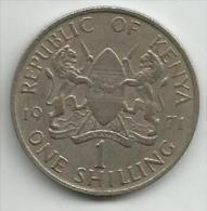 Kenya 1 Shilling 1971. - Kenya