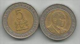 Kenya 5 Shillings 1997. - Kenya