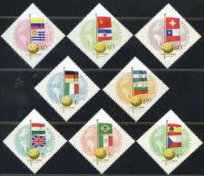 HONGRIE 1962 - ** - YT 1505/1511 - 1830/1837 - Coupe Monde Chili - Football Soccer Drapeaux 3-13 - Coupe Du Monde