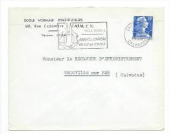 ENVELOPPE Publicitaire De 1958...ECOLE NORMALE D'INSTITUTEURS, Rue Caponière  à  CAEN (14) - France