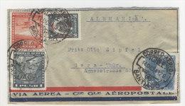 Chile Brief 1934 von Santiago nach Deutschland Sachsen