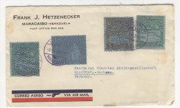 Venezuela Brief 1937 nach Deutschland Sachsen