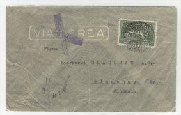 Uruguay Brief 1937 nach Deutschland Sachsen