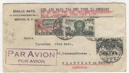 Mexico Brief 1936 nach Deutschland Sachsen