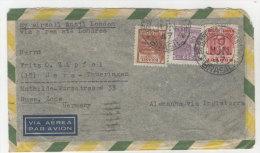 Brasilien Brief 1947 nach Deutschland Sachsen