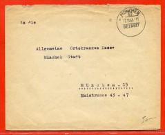 ALLEMAGNE OBLITERATION PORT PAYE SUR LETTRE DE 1945 DE MUNICH - Briefe U. Dokumente