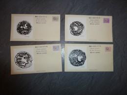 Lot De 4 Enveloppes 1er Jour Timbres Préoblitérés Monnaies Gauloises 1976, Sérigraphies De Bartok ; Ref 434 - Postmark Collection (Covers)