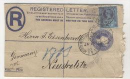 Grossbritannien Ganzsache gebraucht + ZF 1895