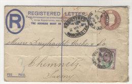 Grossbritannien Ganzsache gebraucht + ZF 1904